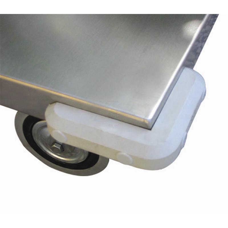 Art041vgirinox maxi carrello a 2 piani con bordo di for Piani di handicap
