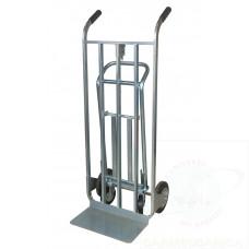 Carrello trasformabile zincato con ruote in gomma piena