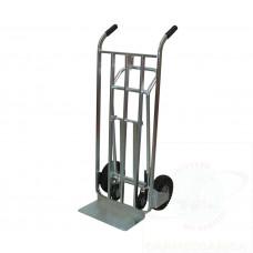 Carrello trasformabile zincato con due ruote antiforatura