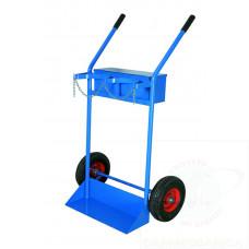 Portabombole biposto con cassetta lt.40/50 ruote pneumatich