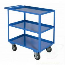 Portatutto Medio a 3 piani con bordo di contenimento, ruote girevoli e 2 con freno