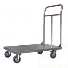Pianale Medio mm 500x800 in acciaio inox AISI 304 con ruote girevoli