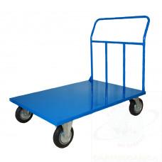 Pianale in lamiera 20/10, portata Kg.500, 4 ruote girevoli