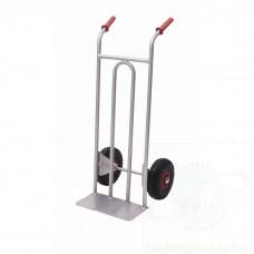 """Carrello """"FM"""" portacasse in acciaio inox AISI 304, ruote pneumatiche"""