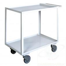 Maxi carrello ufficio a due piani con bordo alta silenziosità