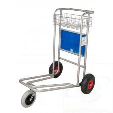 Porta Valige e Bagagli INOX - per villaggi con ruote Antiforatura