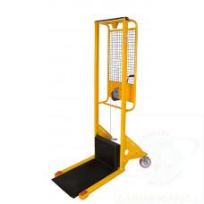Sollevatore ad arganello con frizione incorporata arresto automatico,sollevamento massimo mm 1250 con piastra