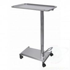Carrello servitore per sala operatoria in acciaio INOX AISI 304, sollevamento idraulico pompa a pedale