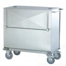 Carrello container trasporto sacchi con anta a ribalta in acciaio INOX