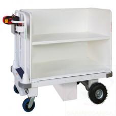 Carrello elettrico idoneo per trasporto faldoni/fascicoli per tribunali con ruote in poliuretano
