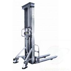 Sollevatore inox a pompa idraulica