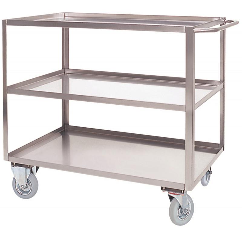 Art040inox maxi carrello a 3 piani con bordo di for Peso lamiera acciaio inox aisi 304