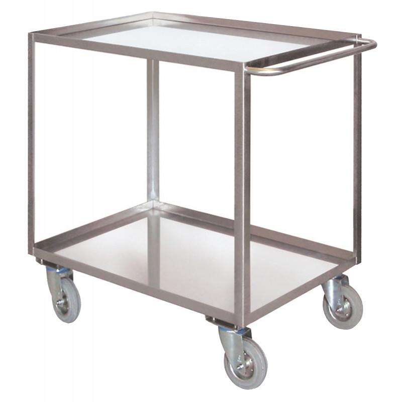 Art041avinox carrello a 2 piani con bordo di for 4 piani di box auto con abitazione