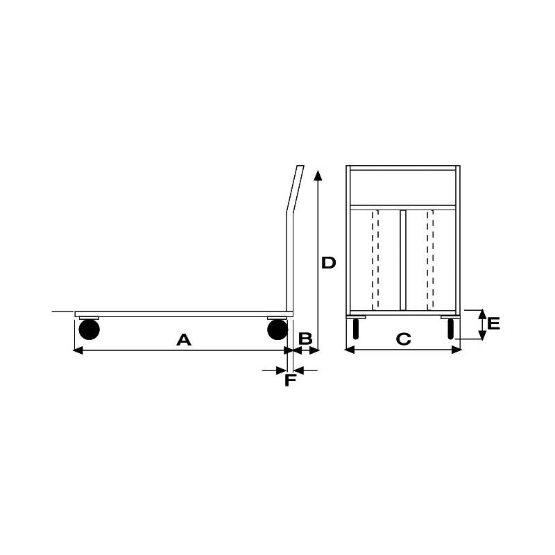 Art042inox carrello a pianale in acciaio alimentare aisi for Peso lamiera acciaio inox aisi 304